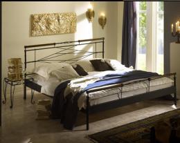 Kovová postel Kelly 200x200 cm