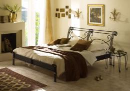 Kovová postel Bella 200x200 cm