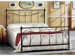 Kovová postel Nora 200x200 cm