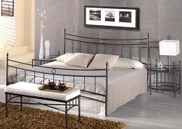 Kovová postel Mariana 200x200 cm