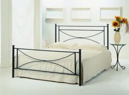 Kovová postel Stela 200x200 cm