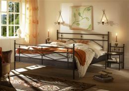 Kovová postel Darja 200x200 cm