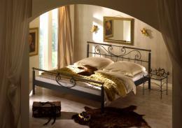 Kovová postel Verde 200x200 cm
