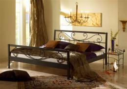 Kovová postel Verena 200x200