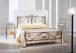 Kovová postel Emilie 200x200 cm