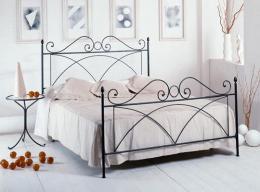 Kovová postel Alice 200x200 cm