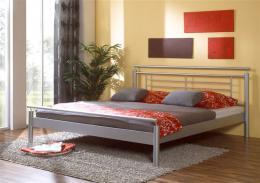 Kovová postel Luna 200x200 cm