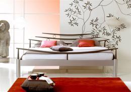 Kovová postel Shanghai 200x200 cm