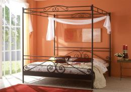 Kovová postel Angelique 200x200 cm